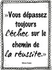 FRENCH GROWTH MINDSET POSTERS -Inspirational Quotes