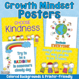 GROWTH MINDSET KINDNESS POSTERS Back to School Bulletin Bo