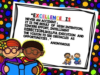 All About EXCELLENCE  - GROWTH MINDSET POSTER SET 1