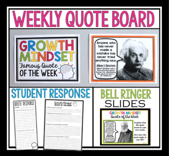 GROWTH MINDSET POSTERS & ASSIGNMENT: FAMOUS QUOTES