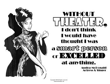 GROWTH MINDSET, ARTS AND CHARACTER EDUCATION POSTERS: THEATER ARTISTS AND QUOTES