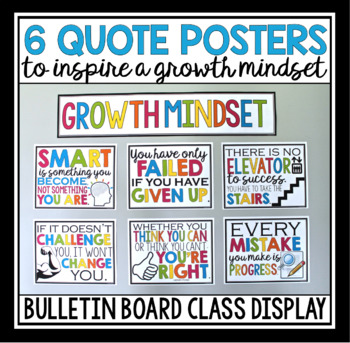 GROWTH MINDSET POSTERS & STUDENT CARDS
