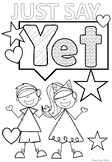 GROWTH MINDSET -  Power of YET coloring pages