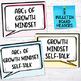 GROWTH MINDSET Self-Talk Posters, Decor, Classroom Display for Grades 6-9