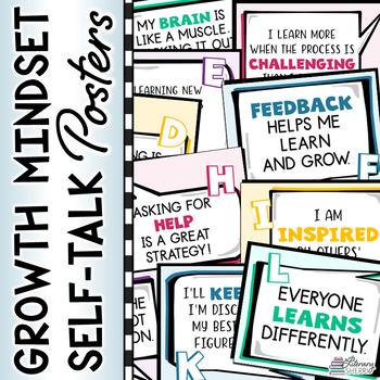 Growth Mindset Self-Talk Posters