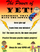 GROWTH MINDSET: The power of YET! Posters and Activities