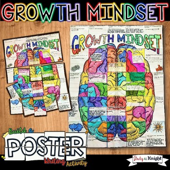 GROWTH MINDSET, COLLABORATIVE POSTER, WRITING ACTIVITY, GROUP PROJECT