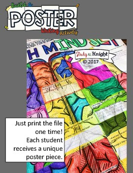 BACK TO SCHOOL GROWTH MINDSET, COLLABORATIVE POSTER, WRITING ACTIVITY