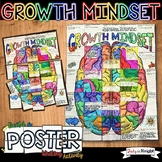 Growth Mindset Poster, Setting Goals, Collaborative Poster