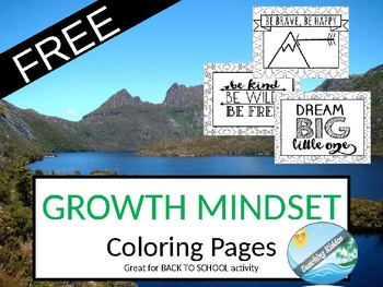 GROWTH MINDSET coloring pages - FREE