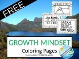 GROWTH MINDSET coloring pages - SEL mindset mindfulness