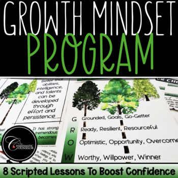GROWx3: Growth Mindset Curriculum To Boost Confidence and Self-Esteem