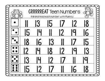GRRRREAT Teen Numbers!