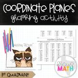 GRUMPY CAT: Coordinate Plane Graphing Activity! (1st Quadrant)