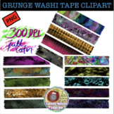 GRUNGE WASHI TAPE CLIPART, CLASS DECOR, BULLETIN BOARDS, STICKERS