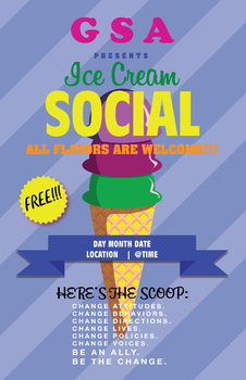 GSA/CLUB ICE CREAM SOCIAL POSTER