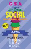 GSA/CLUB ICE CREAM SOCIAL POSTER