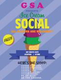 GSA/CLUB ICE CREAM SOCIAL POSTER LETTER SIZE