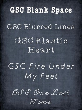 GSC Font Set #1-5 Bundle Pack