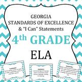 Georgia Standards of Excellence 4th Grade ELA standards an