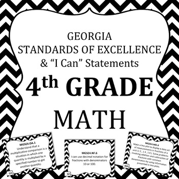 Georgia Standards of Excellence 4th Grade Math standards and I Can Statements