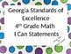 GSE 4th grade I Can Statements Math and Science custom for Mimi S.