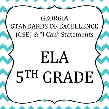 GSE-  5th Grade-ELA standards posters