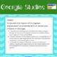 GSE 8th Grade Georgia Studies Standards: Class Display Posters