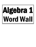 GSE Algebra 1 Word Wall