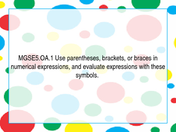 GSE Fifth Standards Posters Colored Dots