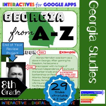 8th Grade Georgia Studies GSE Year-Long Curriculum using Google Slides