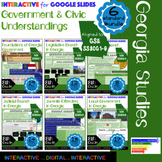 GSE SS8CG1-6 Government and Civics Understandings Interactives for Google Slides
