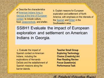 GSE SS8H1 a.b.c. GA Studies lesson plan.