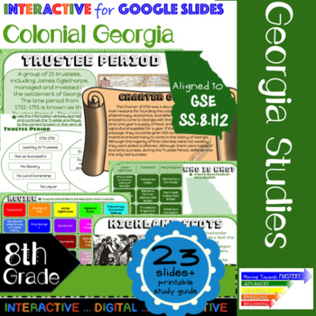GSE SS8H2 Colonial Georgia: Google Interactive