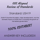 GSE SSUSH19 Study Guide Review- World War II
