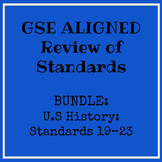 GSE US History Standards 19-23 Review Bundle --Distance learning