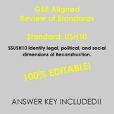 GSE USH10 Study Guide Review Reconstruction