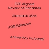 GSE SSUSH4 Editable Study Guide Review- American Revolution