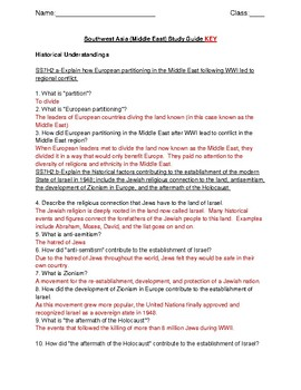 GSE Ultimate Southwest Asia Middle East Study Guide Review for Georgia 7th Grade