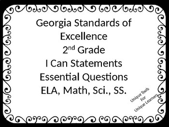 GSE for 2nd grade ELA, Math, Sci., and SS.  Custom for Kimberly J.