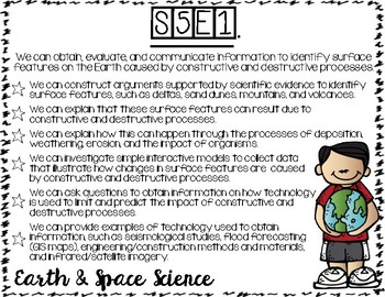 GSE for 5th Grade Science (Georgia)