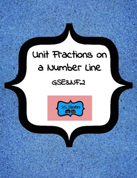 GSE3.NF2: Third Grade- Unit Fractions on a Number Line