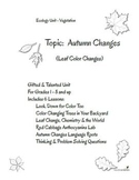Ecology Unit Autumn Colors G&T Grades 1 - 8 and Up