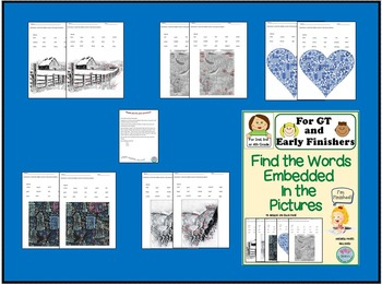 GT or Early Finishers - Find the Embedded Words - for 2nd, 3rd, or 4th Grade