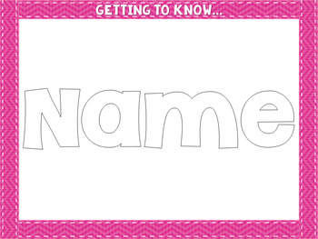 GTKY Name Glyph Activity