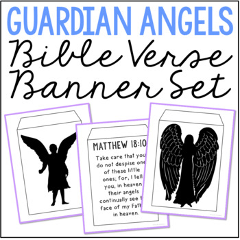 GUARDIAN ANGELS Christian Activity | Banner Craft Project | Bible Verses