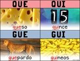 Que, Qui, Gue, Gui – C Fuerte y G Fuerte Spanish Phonics Poster
