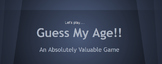 GUESS MY AGE - absolute value game + lesson plan