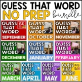 GUESS THAT WORD NO PREP DIGITAL BUNDLE (DISTANCE LEARNING)
