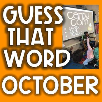GUESS THAT WORD OCTOBER